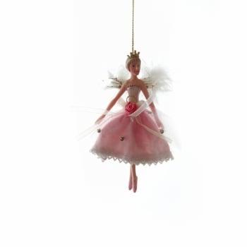 Gisela Graham Pink Fairy Standing Princess Ballerina Christmas Tree Decoration