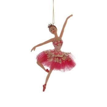 Gisela Graham Fuchsia Pink Princess Ballerina Christmas Tree Decoration