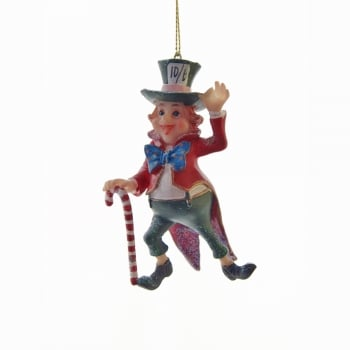 Gisela Graham Mad Hatter Resin Christmas Tree Decoration