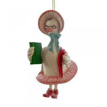 Gisela Graham Old Mother Goose Resin Christmas Tree Decoration