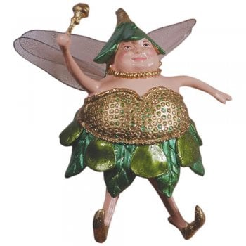 Fat Fairy Gold Christmas Tree Decoration