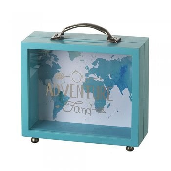 Heaven Sends Our Adventure Fund Wooden & Perspex Money Box