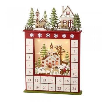 Heaven Sends Wooden LED Christmas Scene Christmas Advent Calendar