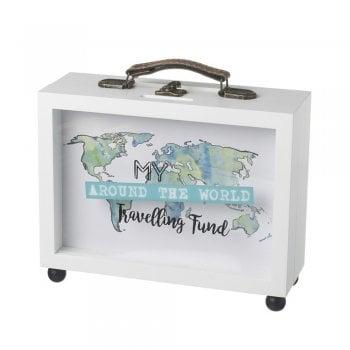 Heaven Sends My Around the World Travelling Fund Small Money Box / Memory Box