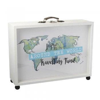 Heaven Sends Large My Around the World Travelling Fund Money Box / Memory Box
