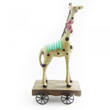 Gisela Graham Circus Giraffe on Wheels Ornament