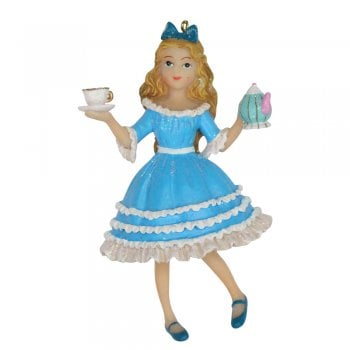 Gisela Graham Alice In Wonderland Resin Christmas Tree Decoration