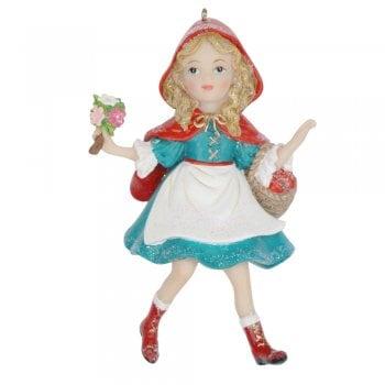 Gisela Graham Little Red Ridding Hood Resin Christmas Tree Decoration