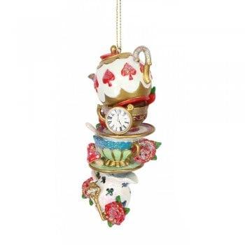 Gisela Graham Stacked Tea Time Resin Christmas Tree Decoration