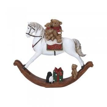 Gisela Graham Rocking Horse with Toys Christmas Decoration