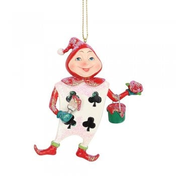 Gisela Graham Club Playing Card Man Resin Christmas Tree Decoration