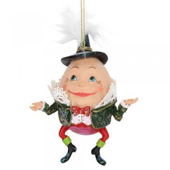 Gisela Graham Humpty Dumpty Resin & Fabric Christmas Tree Decoration