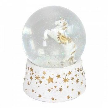 Gisela Graham Unicorn Resin & Glass Musical Snow Globe