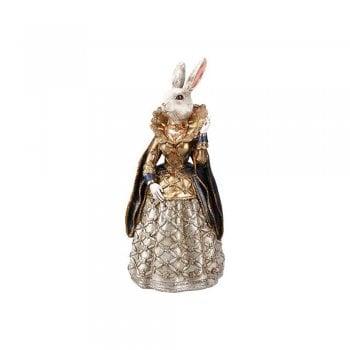 Gisela Graham Small White Rabbit in a Dress Figurine