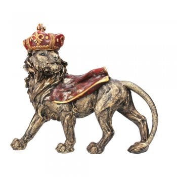 Gisela Graham Lion Wearing a Cape and Crown Ornament