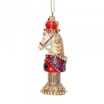 Gisela Graham Knight Horse Chess Piece Christmas Tree Decoration