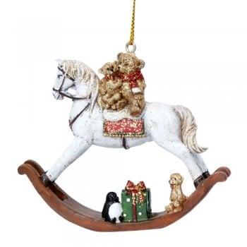 Gisela Graham Rocking Horse with Toys Christmas Tree Decoration
