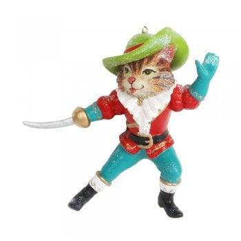 Gisela Graham Puss In Boots Resin Christmas Tree Decoration