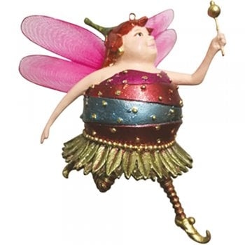 Fat Fairies Fat Fairy Rose Bloom Christmas Tree Decoration