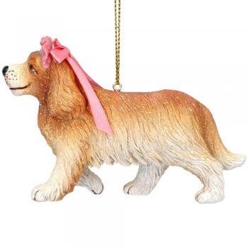 """Gisela Graham """"Nanny"""" Peter Pan Dog Resin Christmas Tree Decoration"""