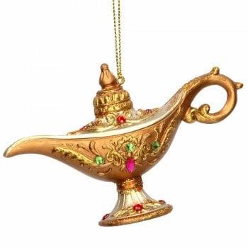 Gisela Graham Aladdin's Lamp Resin Christmas Tree Decoration