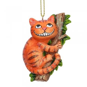 Gisela Graham Cheshire Cat Resin Christmas Tree Decoration