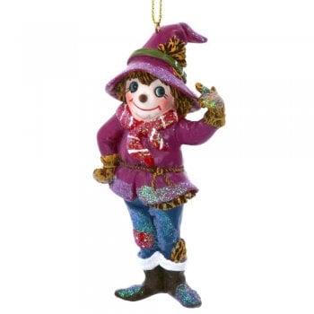 Gisela Graham Scarecrow Resin Christmas Tree Decoration