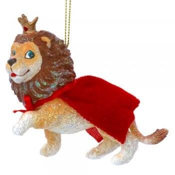 Gisela Graham Cowardly Lion Resin Christmas Tree Decoration