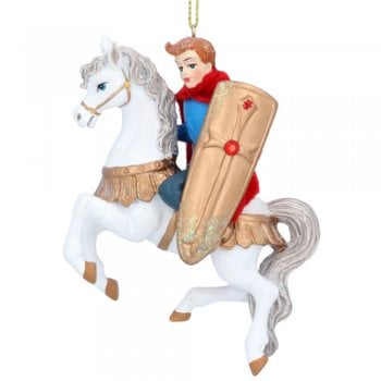 Gisela Graham Prince Charming on a Horse Painted Resin Christmas Tree Decoration