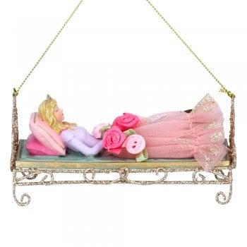 Gisela Graham Sleeping Beauty Fabric, Wire & Painted Resin Christmas Tree Decoration
