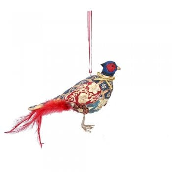 Gisela Graham Arts and Crafts Resin Pheasant (Red) Christmas Tree Decoration