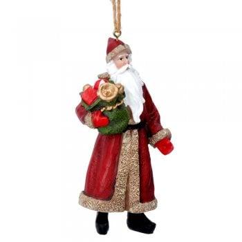 Gisela Graham Nostalgia Victorian Santa with a Sack Christmas Tree Decoration