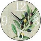 Olive Stone Round Kitchen Wall Clock