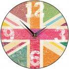 Union Jack Tutti-Frutti Round Wall Clock
