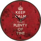 Shabby Chic Keep Calm There's Plenty of Time Round Wall Clock