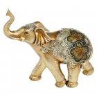 Large Golden Glitter Elephant Ornament