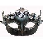 Black & Silver Roman Style Venetian Masquerade Mask