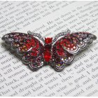 Red Swarovski Crystal Butterfly Brooch