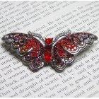 Red Swarovski Crystal Butterfly Brooch