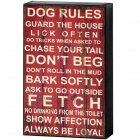 Red & White The Dog's Rules Shelf Wall Plaque