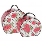 Set of 2 Jessie Steele Pink Rose Pattern Storage Cases