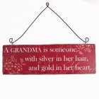 Heaven Sends A Grandma is someone Wooden Hanging Plaque