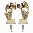 Pair of Beautiful Angel Stocking Hangers