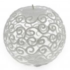 Gisela Graham Clear Filigree Glitter Glass Ball Tealight