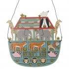 Gisela Graham Wooden Fretwork Noah's Ark Decorative Plaque