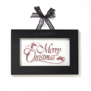 Heaven Sends Black Framed Acrylic Merry Christmas Sign With Ribbon Hanger