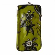 Gisela Graham Lime Green Botanical Print Oilcloth Glasses Case