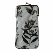 Gisela Graham Powder Blue Botanical Print Oilcloth Glasses Case