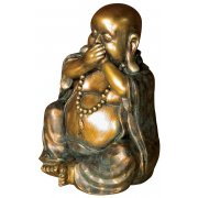 Bronze & Gold Laughing Buddha Ornament