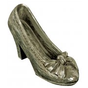 Antique Silver Court Shoe with Bow Ornament